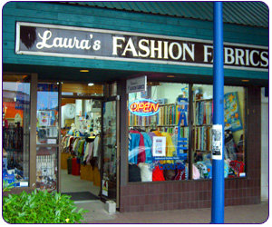 Laura's Fashion Fabrics logo