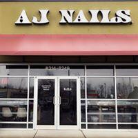 AJ Nails logo