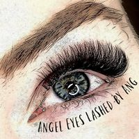 Angel eyes lashed by Ang logo
