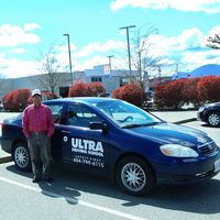 Ultra driving school logo