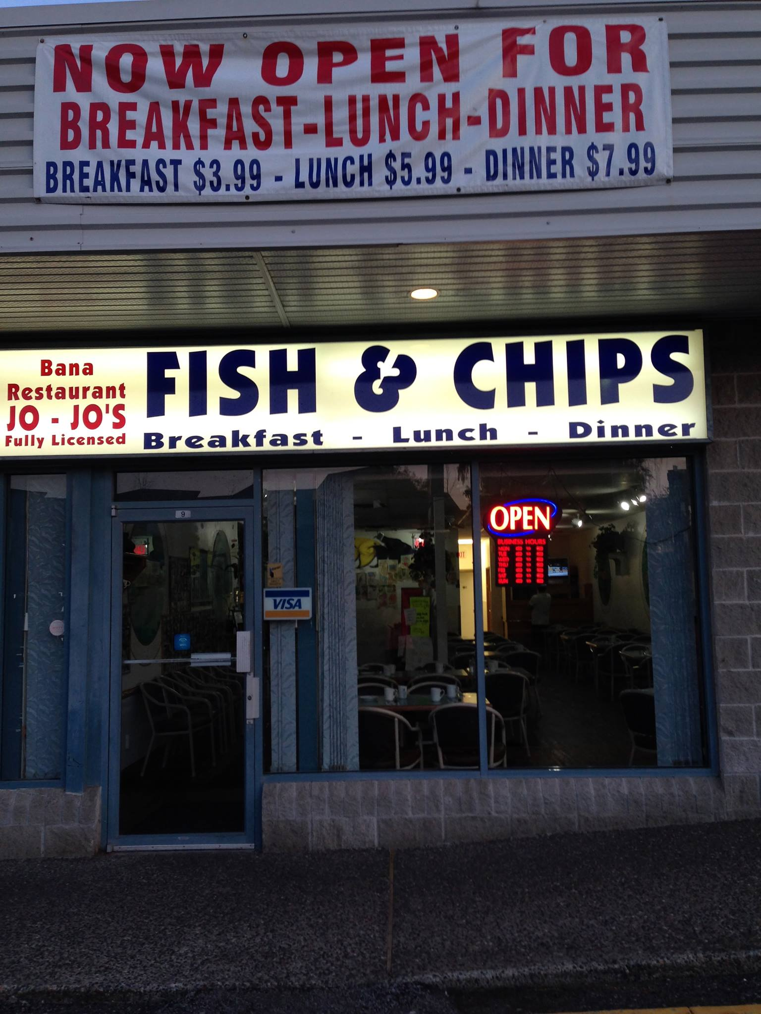 Jojo's Fish & Chips Bana Restaurant logo