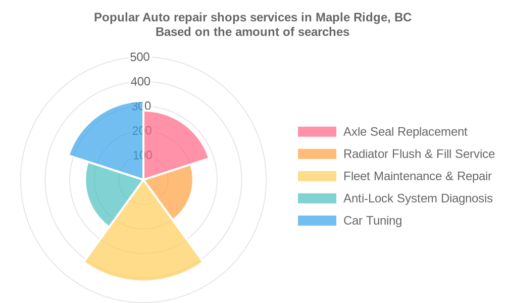 Popular services provided by auto repair shops in Maple Ridge, BC