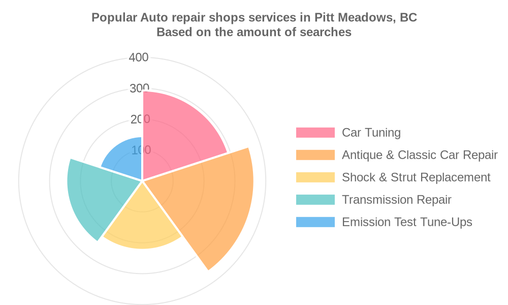 Popular services provided by auto repair shops in Pitt Meadows, BC