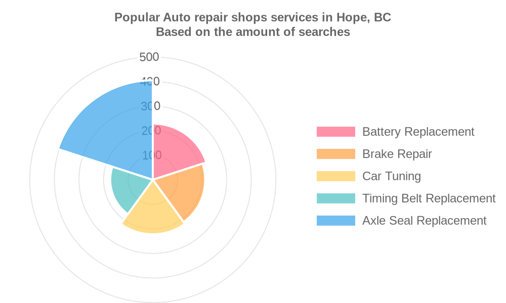 Popular services provided by auto repair shops in Hope, BC