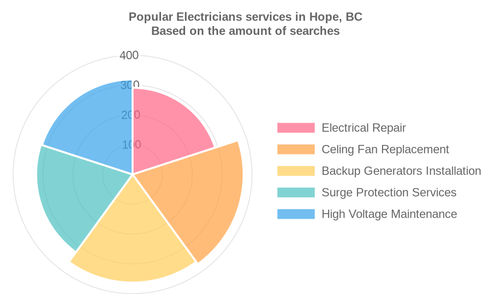 Popular services provided by electricians in Hope, BC