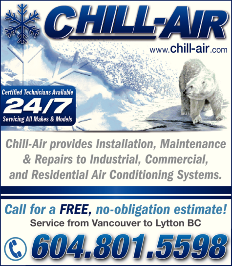 Yellow Pages Ad of Chill-Air