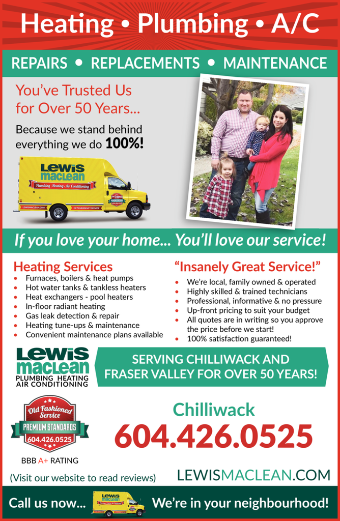 Yellow Pages Ad of Lewis Maclean Plumbing Heating Air Conditioning