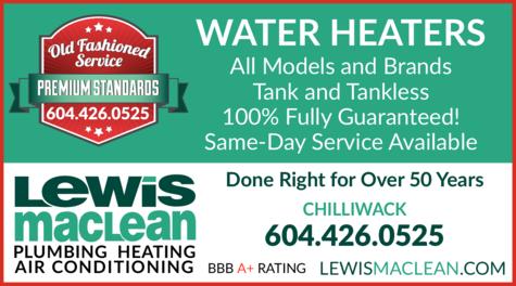 Print Ad of Lewis Maclean Plumbing Heating Air Conditioning