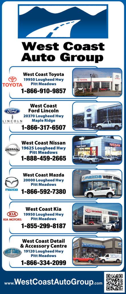 Yellow Pages Ad of West Coast Auto Group
