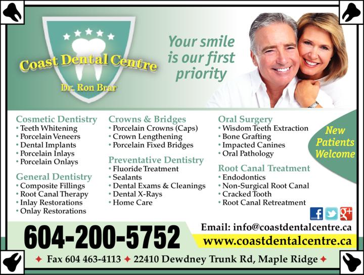 Print Ad of Coast Dental Centre