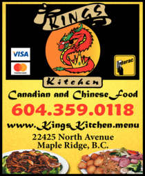 Yellow Pages Ad of Kings Kitchen
