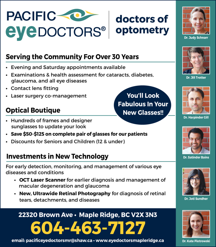 Print Ad of Pacific Eye Doctors
