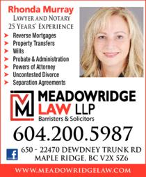Print Ad of Murray Rhonda - Lawyer & Real Estate Law