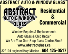 Print Ad of Abstract Auto & Window Glass