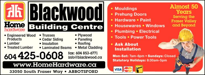 Print Ad of Blackwood Building Centre Ltd