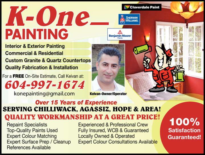 Yellow Pages Ad of K-One Painting