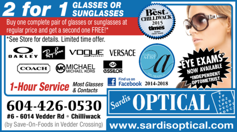 Print Ad of Sardis Optical