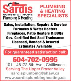 Print Ad of Sardis Plumbing & Heating