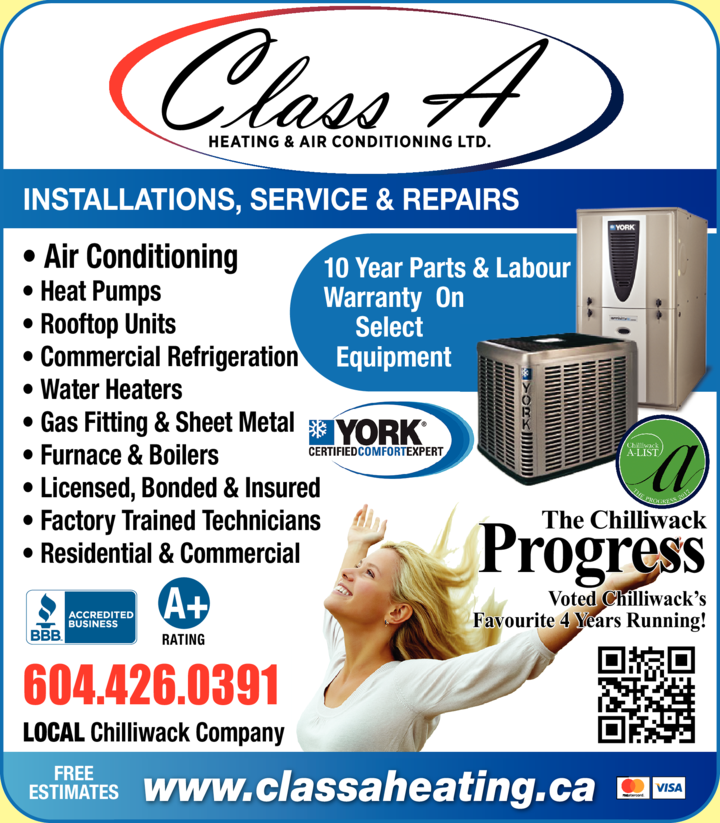 Print Ad of Class A Heating And Air Conditioning Ltd