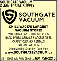 Print Ad of Southgate Vacuum & Janitorial Supply