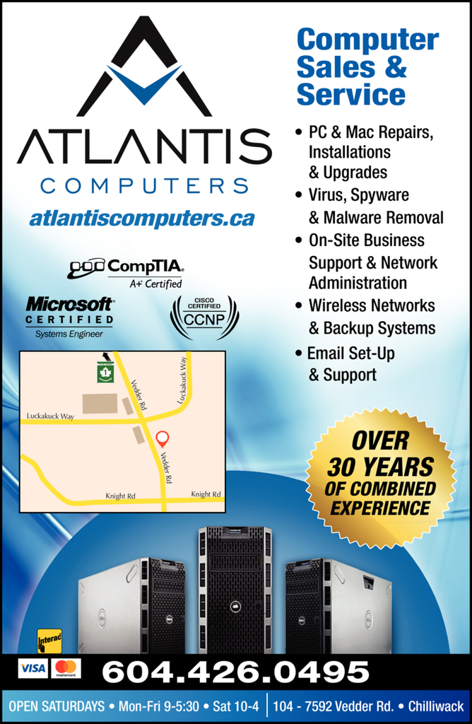 Print Ad of Atlantis Computers