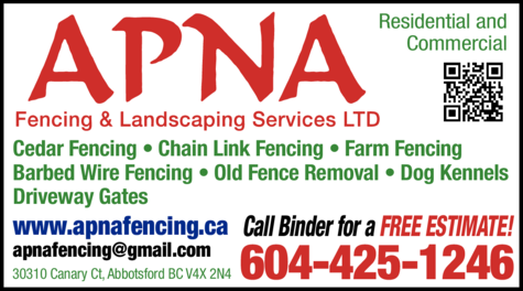 Print Ad of Apna Fencing & Landscaping Services Ltd