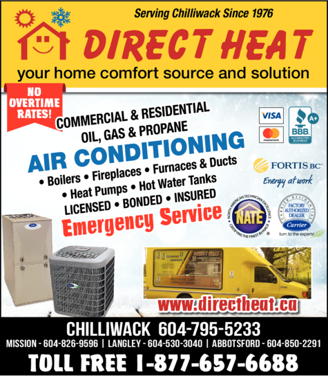 Yellow Pages Ad of Direct Heat