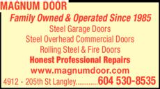 Print Ad of Magnum Door