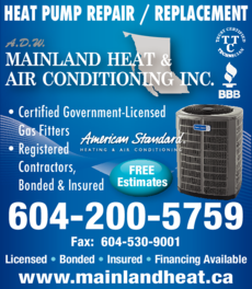 Print Ad of Adw Mainland Heat & Air Conditioning Inc