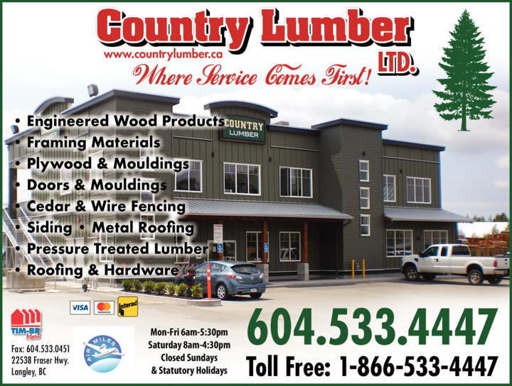 Print Ad of Country Lumber Ltd