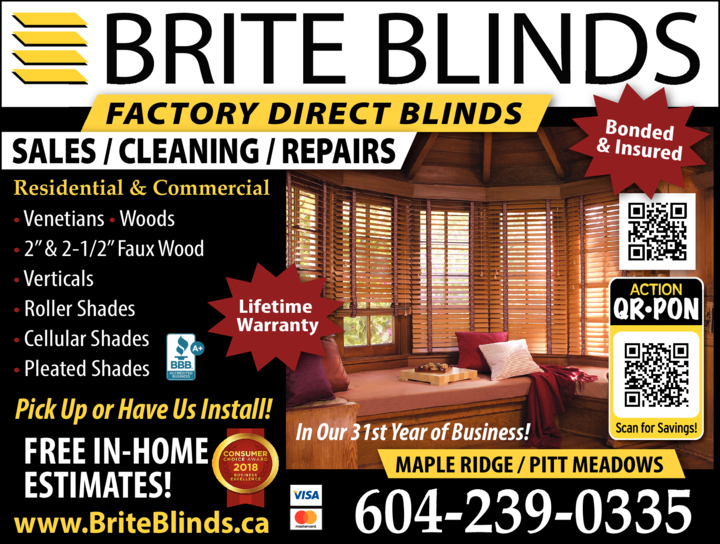 Print Ad of Brite Blinds Ltd