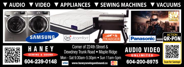 Print Ad of Haney Appliance & Sound Ltd