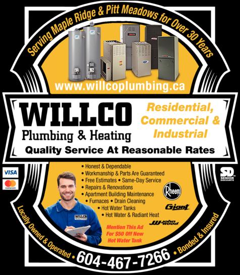 Print Ad of Willco Plumbing & Heating