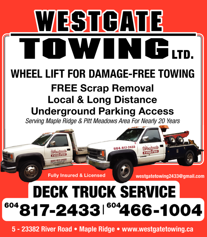 Print Ad of Westgate Towing Ltd