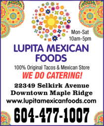 Yellow Pages Ad of Lupita Mexican Foods