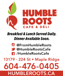 Yellow Pages Ad of Humble Roots Cafe & Deli
