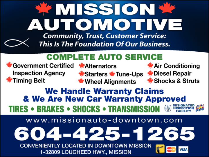 Yellow Pages Ad of Mission Automotive