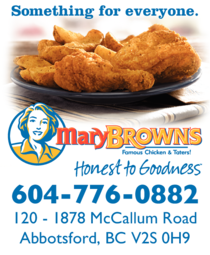 Yellow Pages Ad of Mary Brown's Famous Chicken