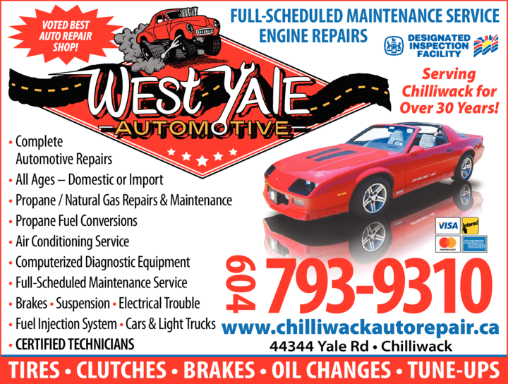 Yellow Pages Ad of West Yale Auto & Conversion Centre