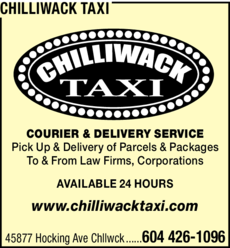 Yellow Pages Ad of Chilliwack Taxi