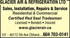 Print Ad of Glacier Air & Refrigeration Ltd
