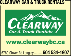 Print Ad of Clearway Car & Truck Rentals