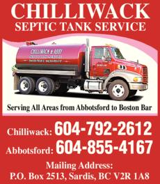 Print Ad of Chilliwack Septic Tank Service