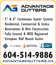 Print Ad of Advantage Gutters Inc