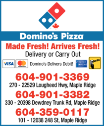 Yellow Pages Ad of Domino's Pizza