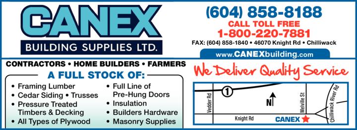 Print Ad of Canex Building Supplies Ltd