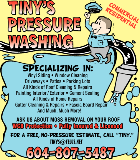 Print Ad of Tiny's Pressure Washing