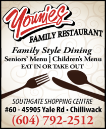 Yellow Pages Ad of Younies Family Restaurant