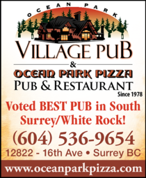 Yellow Pages Ad of Ocean Park Pizza & Village Pub