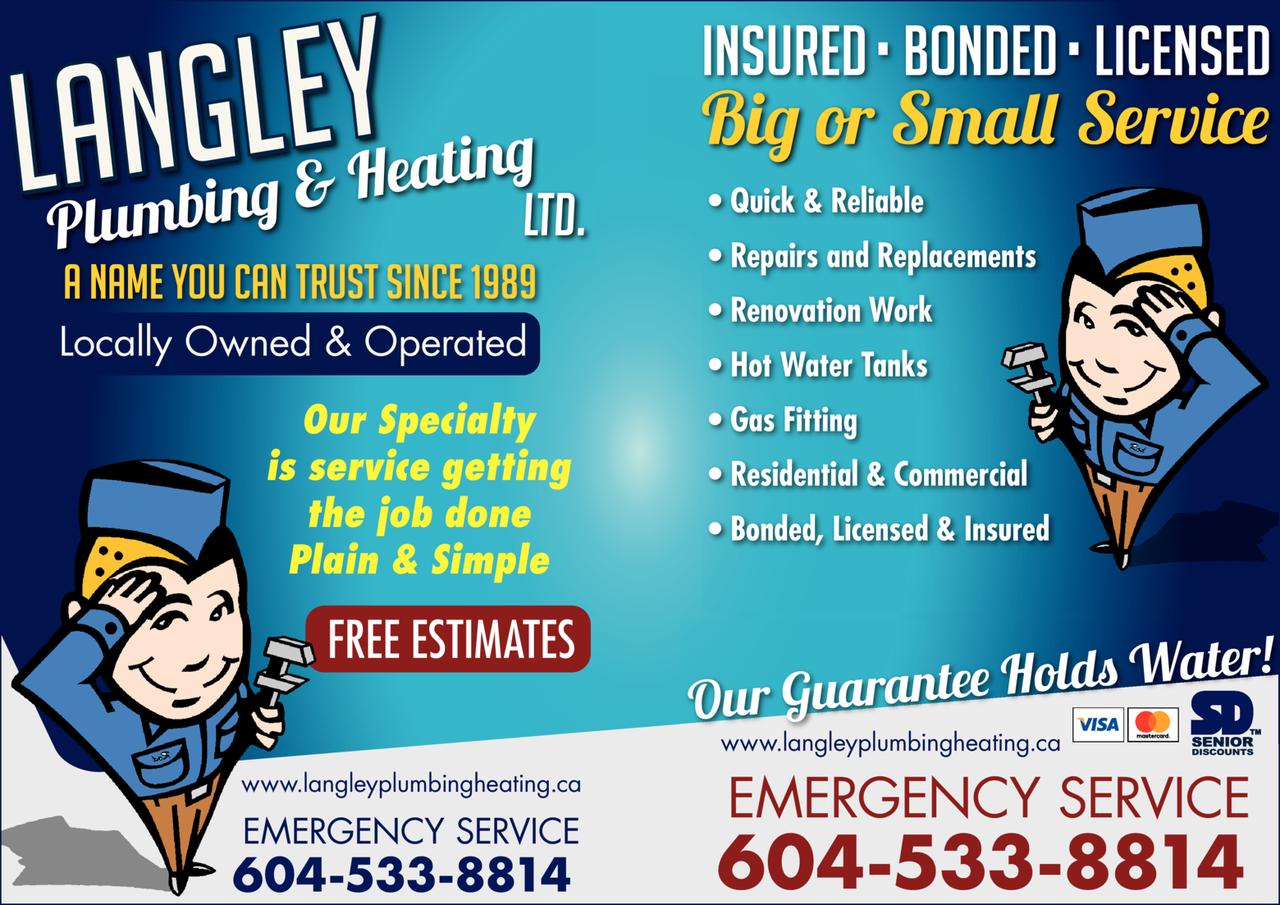 Print Ad of Langley Plumbing & Heating Ltd